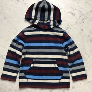 Jumping Beans Striped Hoodie Fleece Sweatshirt 4T
